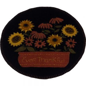 Ever Thankful candle mat