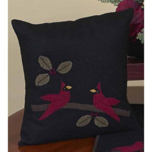 Cardinal christmas pillow