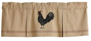 Hen Pecked rooster valance