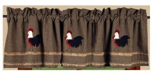 Rise and Shine rooster valance