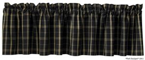 Black plaid valance