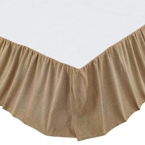 Burlap Natural Ruffled Bed Skirt