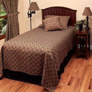 Marshfield Jacquard Black Bedding
