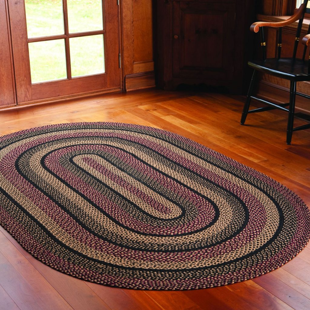 Blackberry braided rug