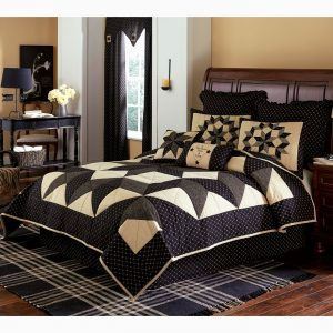 Carrington quilted bedding - country black decor